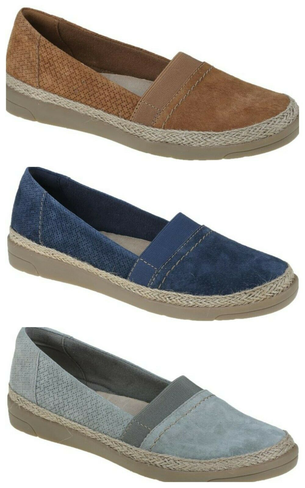shop exclusive shoes fashion styles Earth Spirit Milwaukee Boat Shoes - Navy Blue UK 7 Tried on Only ...