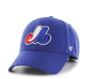 f791b0ddb29ac Montreal Expos Basic 47 MVP Blue Hat Cap Adjustable Strap MLB ...