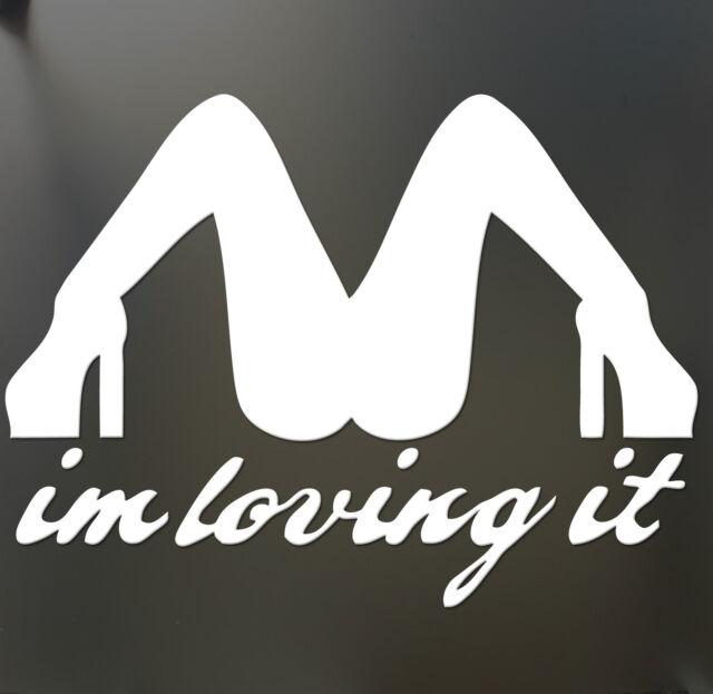 Im loving it mcdonalds funny bumper sticker jdm car window decal
