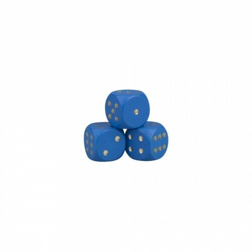 Dice - 0 15 32in - Wood - bluee