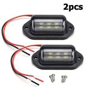 2pc-Universal-6LED-Lkw-Anhaenger-Pedal-Licht-Auto-Kennzeichenbeleuchtung-Lampe