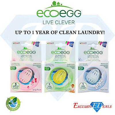 Ordinato Ecoegg Laundry Egg Ricarica Pellet - 720 Lavaggi-scegli Tra 3 Fragranze- Morbido E Antislipore