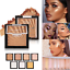 Beauty-Highlighter-Palette-Makeup-Face-Contour-Powder-Bronzer-Make-Up-Blusher thumbnail 1
