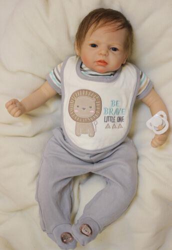 55cm Realistic Lifelike Newborn Silicone Vinyl Reborn Baby Doll Child Xmas Gift