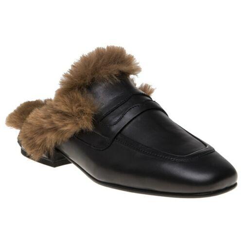 Nouveau Débardeur Ash Black émotion cuir Chaussures Flats Slip On