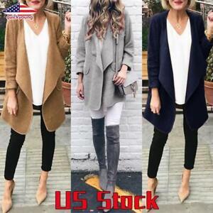 Women-Jacket-Tops-Casual-Cardigan-Long-Sleeve-Blazer-Coat-Slim-Blouse-Outwear-US