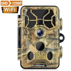Wildkamera Jagdkamera HD 1080P 24MP Wasserdicht Fotofalle 20M IR Nachtsicht 120°
