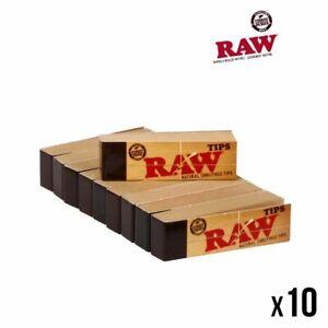 Raw-TIPS-Lot-de-10-Carnets-x-50-Filtres-en-Carton-Tip