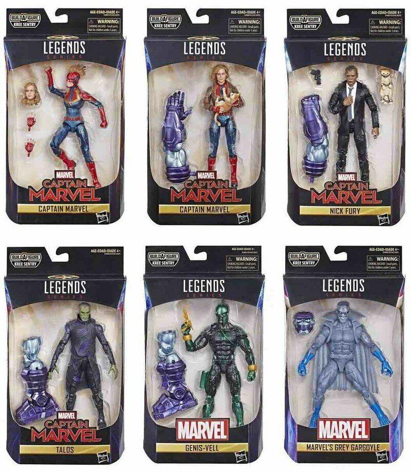 Marvel LegendsCaptain Marvel  Wave 1 Set of 7 (Kree Sentry BAF)