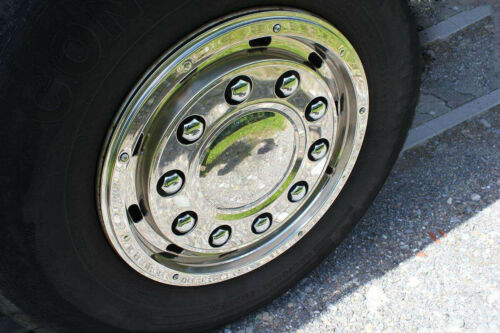60x 32mm Wheel Nut Cover Caps Chrome Plastic Truck Man Daf Scania Volvo Mercedes