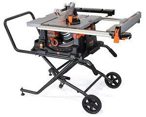 Wen 3720 10 inch jobsite table saw with rolling stand ebay for 10 inch table saw with stand