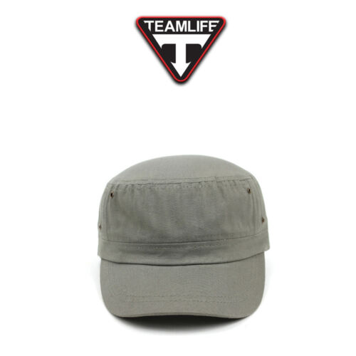 Unisex Mens Womens Unicolor Plain Velcroed Cadet Military Cap Trucker Hats Navy