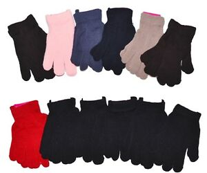 Lady-Girls-Women-Winter-Knit-Gloves-Magic-Gloves-Wholesale-12-Pairs-New-York