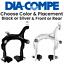 Dia Compe MX-806 Side Pull Bike Brake Caliper 57-75mm Front// Rear Black// Silver