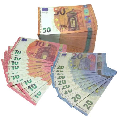 10 EURO SET DA 20 PEZZI FICHES SEGNALIBRO SCHERZI 20 BANCONOTE FINTE DA 100,50