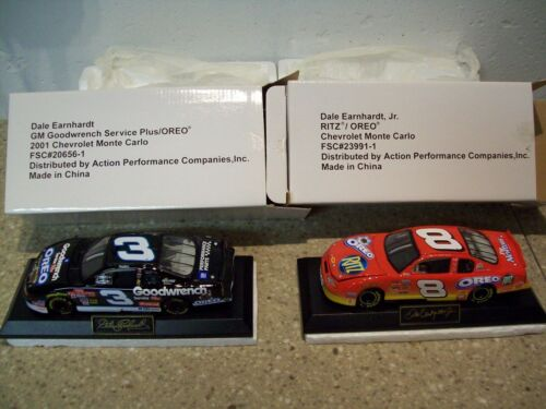 Set of 2 132 scale Earnhardt Sr. and Jr. wBase Oreo Series NIB