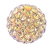 10 Light Topaz Rhinestone clay pave 12mm beads for Shamballa Bracelets