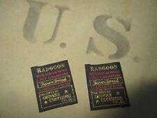 2x US Army Rangoon Schneider étiquette Étiquette uniforme Veste d'officier