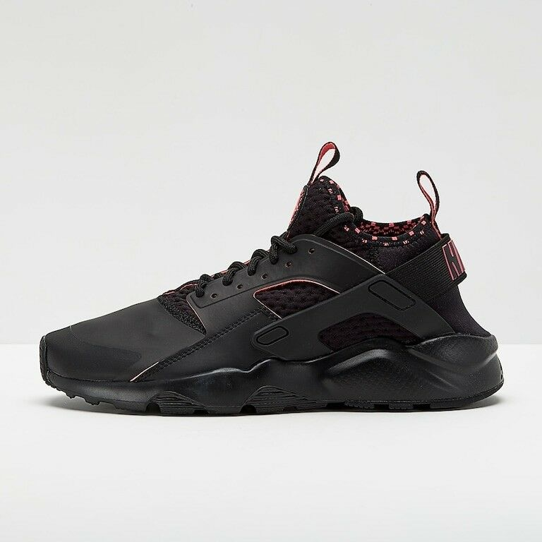 Comfortable and good-looking New Mens Nike Air Huarache Run Ultra SE Black Red Trainers BNIB 875841 005