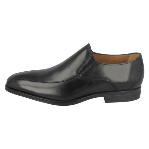 Clarks negro hombre zapatos elegante cuero Slip para en Gilman de wxqTrvwfR