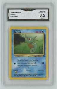 1999 Pokemon Fossil Unlimited #49 Horsea GMA 8.5 Nm-Mt+ A