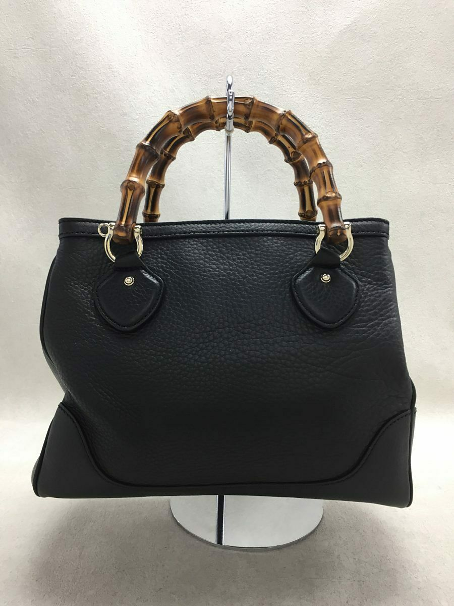 Used Gucci Diana Bamboo 2WAY Bag Leather Black Co… - image 3