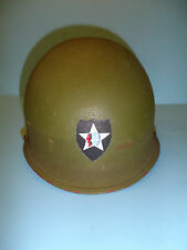 h42 WW 2 US  helmet shell hand painted 2nd Infantry Division EM