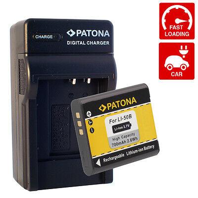 Cargador + Bateria  para Olympus Li-50B / Li50B / Li50 Li50 B