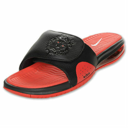 Nike Lebron Air Max Slide Black Red Miami  MVP Championship size10 487332 010