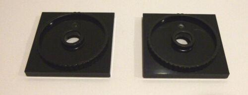 2 x LEGO® 61485 Drehelement,Drehteller flach schwarz.