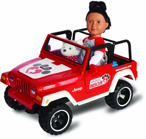 R//C Car to Carry Dolls Red My Life As Animal Rescue Remote Control Jeep