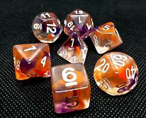 dice4friends-RPG-Wuerfel-Set-7-Poly-DND-Rollenspiel-Candy-Passionfruit-bunt