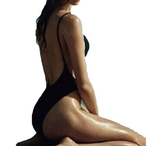 Damen Push Up Gepolstert Bikini Einteiler Sommer Monokini Bademode Badeanzug Hot