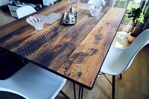 Orientalisch Esstisch Rustikal Designer Holz Und Metall Ebay