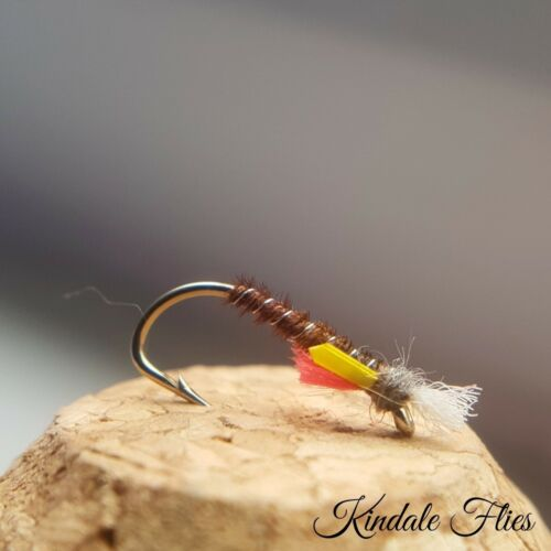 Set of 3 Fly Fishing Flies Lightweight Pheasant Tail Buzzers size 14