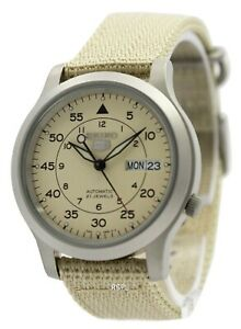 Seiko-5-Military-Automatic-Nylon-Strap-SNK803K2-Men-039-s-Watch