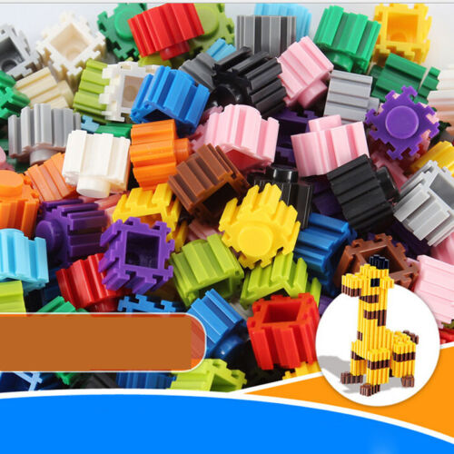 200Pcs//one set Children Kid Educational Plastic Building  Block Brick Toy Xm^F