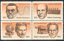 USA 1983 Inventors/Electricity/TV Camera/Radio/Electric Motor 4v blk (n33305)