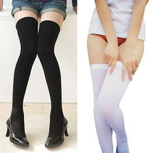 Women-Ladies-Soft-Over-Knee-Long-Boot-Thigh-High-Socks-Warm-Stockings-Leggings