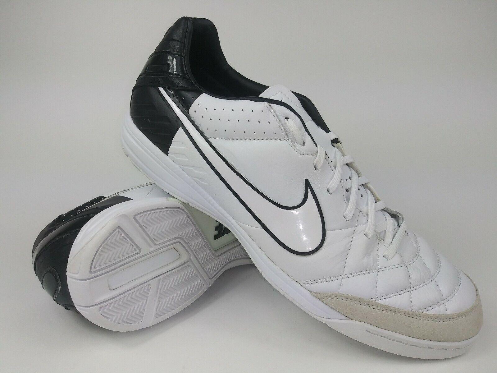 Nike Hombre Raro Tiempo Mystic IV IC 454333-105 blancoo Negro Fútbol Zapatos Talla 12