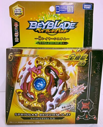 Takara Tomy Beyblade Burst B-100 Spriggan Requiem .0.Zeta L//R Spin Drain