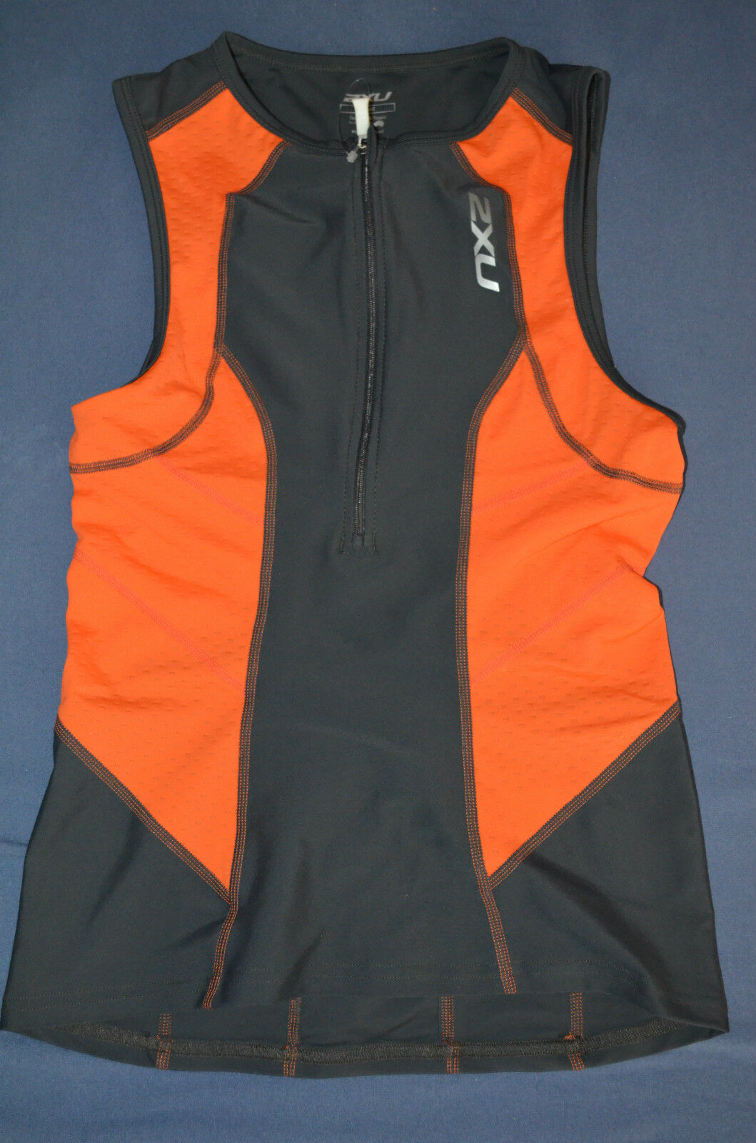 2XU Perform Triathlon Oberteil Herren Orange grau Gr.S