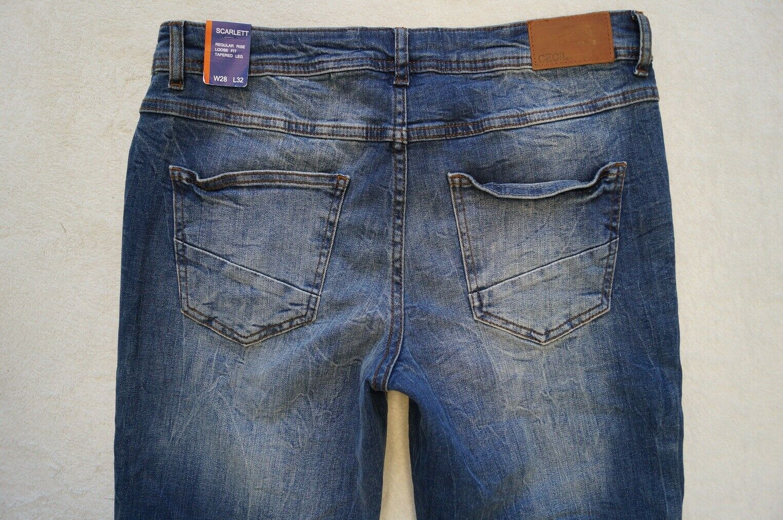 CECIL Scarlett Taperot Jeans Jeans Jeans Loose Fit W 28,29 L32 Stretch blau NEU   Schöne Kunst  853a88