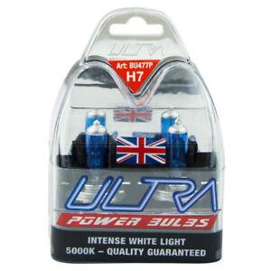 2-X-H7-Xenon-Ultra-Power-White-Bright-5000k-Gas-Car-Headlight-Headlamp-Bulbs