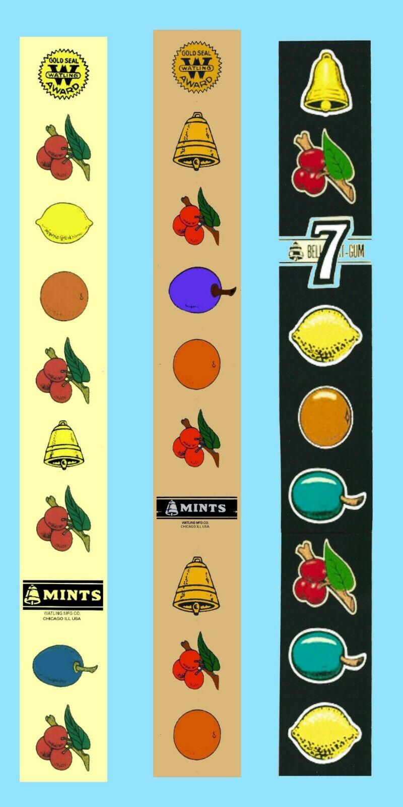 Fruit machine Replacement reel Strips,custom made Jennings,Mills,Sega,ect