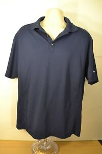 Mens-Nike-Polo-Dri-Fit-Blue-Color-Large-Size-Short-Sleeve-Excellent