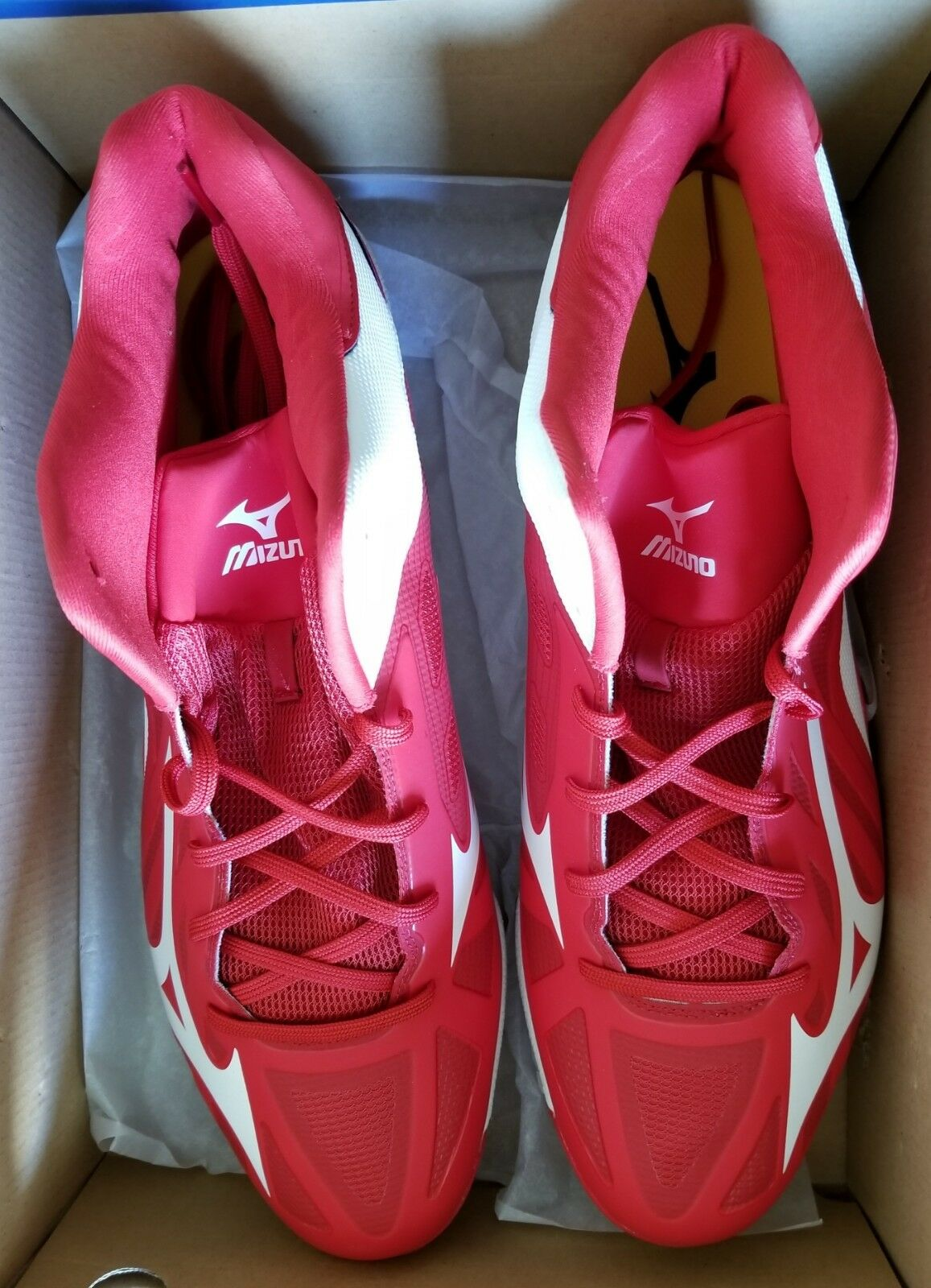MIZUNO BASEBALL HEIST IQ MID 320500 BASEBALL MIZUNO METAL CLEATS SIZE 16 - ROT - NEW WITH BOX bae49a