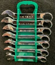 SK Tools 86247 7 Piece Metric Short Combination Wrench Set