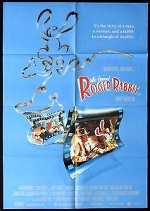 WHO-FRAMED-ROGER-RABBIT-Original-ONE-SHEET-Movie-poster-Rare-Bob-Hoskins
