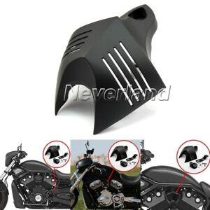Black-V-shield-Horn-Cover-Set-Fit-For-Harley-Softail-Dyna-Street-Glide-1992-2013